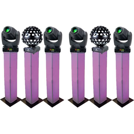 Light Pack 10 - 4x Moving Heads + 2x Disco Balls