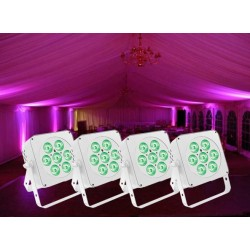4x LED Uplighter Package
